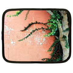 Background Stone Wall Pink Tree Netbook Case (XXL)