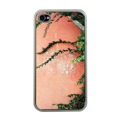 Background Stone Wall Pink Tree Apple iPhone 4 Case (Clear)