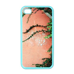 Background Stone Wall Pink Tree Apple iPhone 4 Case (Color)