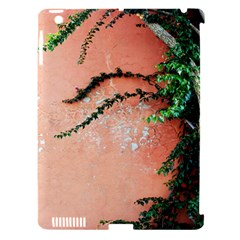 Background Stone Wall Pink Tree Apple iPad 3/4 Hardshell Case (Compatible with Smart Cover)