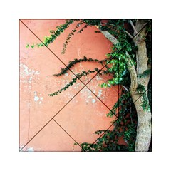 Background Stone Wall Pink Tree Acrylic Tangram Puzzle (6  x 6 )
