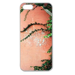 Background Stone Wall Pink Tree Apple Seamless iPhone 5 Case (Clear)