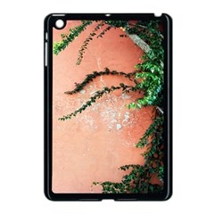 Background Stone Wall Pink Tree Apple iPad Mini Case (Black)