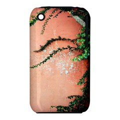 Background Stone Wall Pink Tree iPhone 3S/3GS