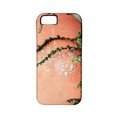 Background Stone Wall Pink Tree Apple iPhone 5 Classic Hardshell Case (PC+Silicone)