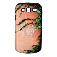 Background Stone Wall Pink Tree Samsung Galaxy S III Classic Hardshell Case (PC+Silicone)