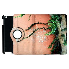 Background Stone Wall Pink Tree Apple iPad 3/4 Flip 360 Case
