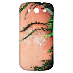 Background Stone Wall Pink Tree Samsung Galaxy S3 S III Classic Hardshell Back Case