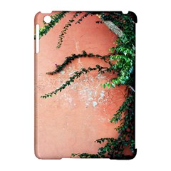 Background Stone Wall Pink Tree Apple iPad Mini Hardshell Case (Compatible with Smart Cover)