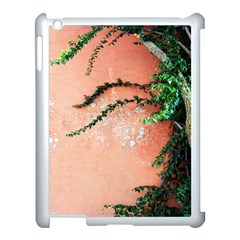 Background Stone Wall Pink Tree Apple iPad 3/4 Case (White)