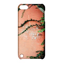 Background Stone Wall Pink Tree Apple iPod Touch 5 Hardshell Case with Stand