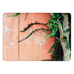 Background Stone Wall Pink Tree Samsung Galaxy Tab 10.1  P7500 Flip Case