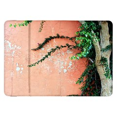 Background Stone Wall Pink Tree Samsung Galaxy Tab 8.9  P7300 Flip Case