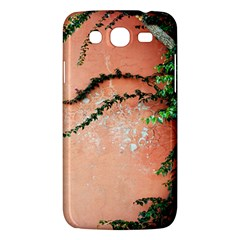 Background Stone Wall Pink Tree Samsung Galaxy Mega 5.8 I9152 Hardshell Case
