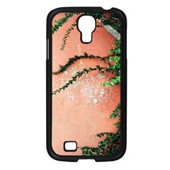 Background Stone Wall Pink Tree Samsung Galaxy S4 I9500/ I9505 Case (Black)