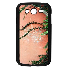 Background Stone Wall Pink Tree Samsung Galaxy Grand DUOS I9082 Case (Black)