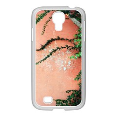 Background Stone Wall Pink Tree Samsung GALAXY S4 I9500/ I9505 Case (White)