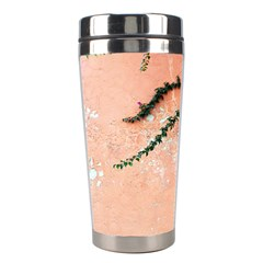 Background Stone Wall Pink Tree Stainless Steel Travel Tumblers