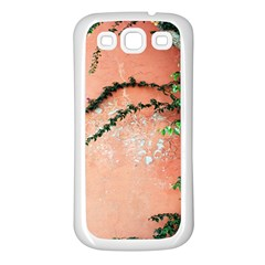 Background Stone Wall Pink Tree Samsung Galaxy S3 Back Case (White)
