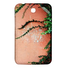 Background Stone Wall Pink Tree Samsung Galaxy Tab 3 (7 ) P3200 Hardshell Case