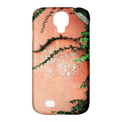 Background Stone Wall Pink Tree Samsung Galaxy S4 Classic Hardshell Case (PC+Silicone)