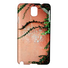 Background Stone Wall Pink Tree Samsung Galaxy Note 3 N9005 Hardshell Case