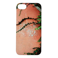 Background Stone Wall Pink Tree Apple iPhone 5S/ SE Hardshell Case