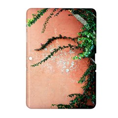 Background Stone Wall Pink Tree Samsung Galaxy Tab 2 (10.1 ) P5100 Hardshell Case