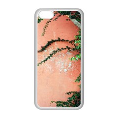 Background Stone Wall Pink Tree Apple iPhone 5C Seamless Case (White)