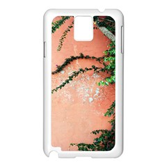 Background Stone Wall Pink Tree Samsung Galaxy Note 3 N9005 Case (White)