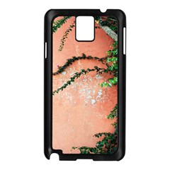 Background Stone Wall Pink Tree Samsung Galaxy Note 3 N9005 Case (Black)
