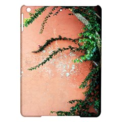 Background Stone Wall Pink Tree iPad Air Hardshell Cases