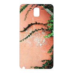Background Stone Wall Pink Tree Samsung Galaxy Note 3 N9005 Hardshell Back Case