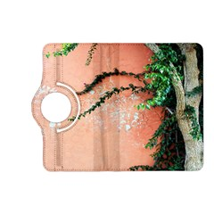 Background Stone Wall Pink Tree Kindle Fire HD (2013) Flip 360 Case