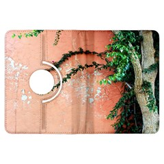 Background Stone Wall Pink Tree Kindle Fire HDX Flip 360 Case