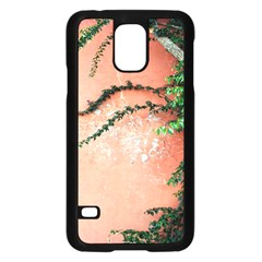 Background Stone Wall Pink Tree Samsung Galaxy S5 Case (Black)
