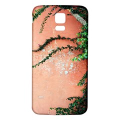 Background Stone Wall Pink Tree Samsung Galaxy S5 Back Case (White)