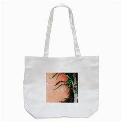 Background Stone Wall Pink Tree Tote Bag (White)