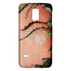 Background Stone Wall Pink Tree Galaxy S5 Mini