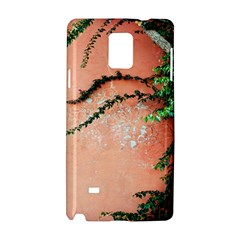 Background Stone Wall Pink Tree Samsung Galaxy Note 4 Hardshell Case