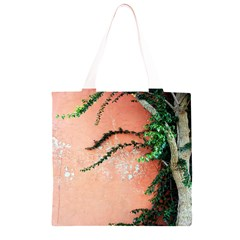 Background Stone Wall Pink Tree Grocery Light Tote Bag