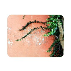 Background Stone Wall Pink Tree Double Sided Flano Blanket (Mini)