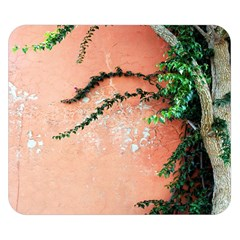 Background Stone Wall Pink Tree Double Sided Flano Blanket (Small)