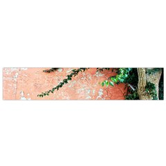 Background Stone Wall Pink Tree Flano Scarf (Small)