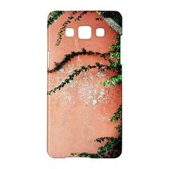 Background Stone Wall Pink Tree Samsung Galaxy A5 Hardshell Case