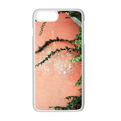 Background Stone Wall Pink Tree Apple iPhone 7 Plus White Seamless Case