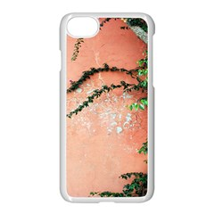 Background Stone Wall Pink Tree Apple iPhone 7 Seamless Case (White)