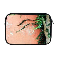 Background Stone Wall Pink Tree Apple MacBook Pro 17  Zipper Case