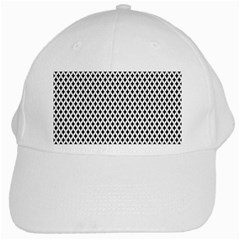 Diamond Black White Shape Abstract White Cap