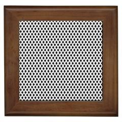 Diamond Black White Shape Abstract Framed Tiles
